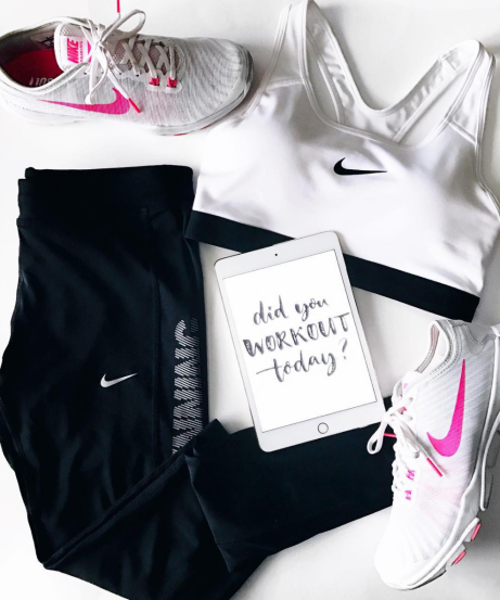 Workout Flatlay